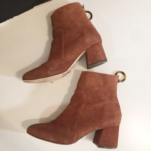 AS IS Urban Outfitters Suede Booties.-F6.